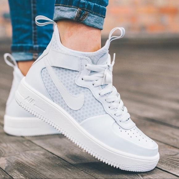 3328069558dd7 Nike Shoes | Air Force 1 Ultraforce Mid Triple White | Poshmark